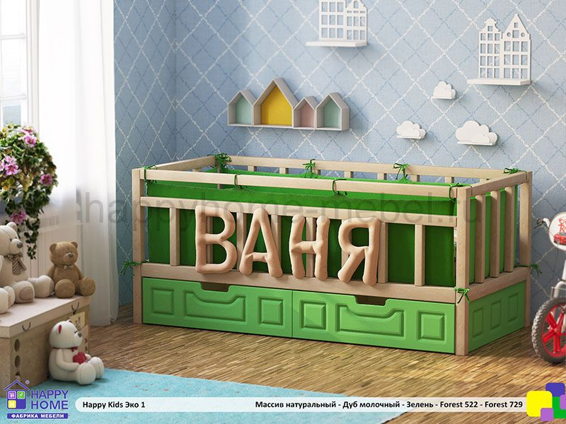 КРОВАТЬ HAPPY KIDS ЭКО 1 190Х80