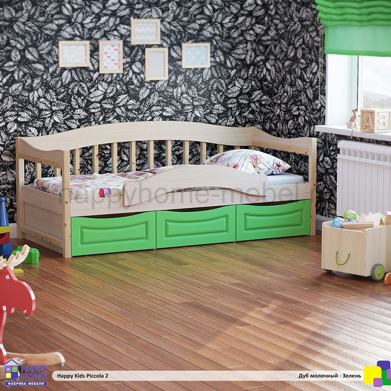 КРОВАТЬ HAPPY KIDS PICCOLA 2 (160Х80)